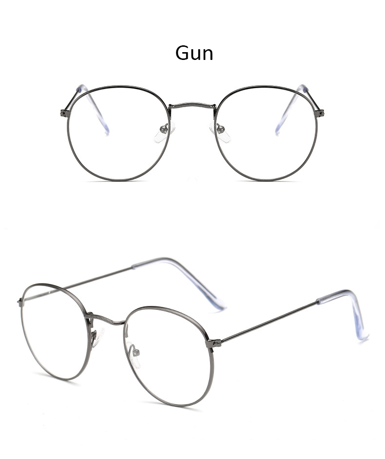 Fashion glasses frame Classic Round Women's Metal frame Optical Glasses Computer blue light Glasses oval eyeglasses frame Retro (17)