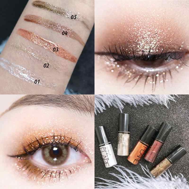 5 Warna Makeup Eye Shadow 1 PC Mutiara Logam Glitter Liquid Eyeshadow Single Campuran Berkilau Halus Mata Kosmetik TSLM2