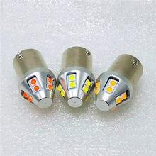 P21W BA15S (1156) BAU15S светодиодсветодиодный Красные Белые стоп-сигналы T20 7440 7443 W21W W21/5W автомобильная лампа указателя поворота T25 3157 P27W 10SMD светодиод...