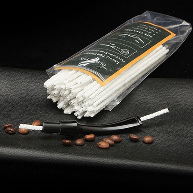 100pcs Cotton Smoking Pipe Cleaners Smoke Tobacco Pipe Cleaning Tool White Cigarette Holder Accessories