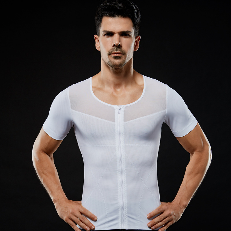 Image 5 - IYUNYI Men Body Shapers T shirt Lose Weight Slimming Tops Men Chest Shapers Belly Stomach Shapewear Posture Corrector T Shirt-in Shapers from Underwear & Sleepwears on AliExpress
