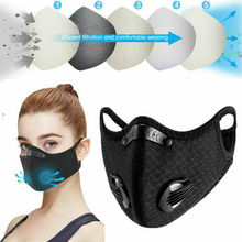 New Anti-pollution Dustproof Mask Washable Facemask Activated carbon ma