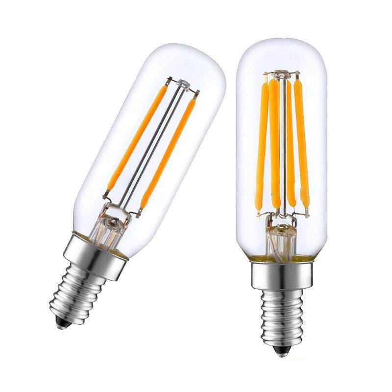 2021 Эдисон лампы E14 светодиодный светильник T25 4W 8W 12W Плита капюшон Светодиодная лампа накаливания вытяжной вентилятор лампа теплого белого с...