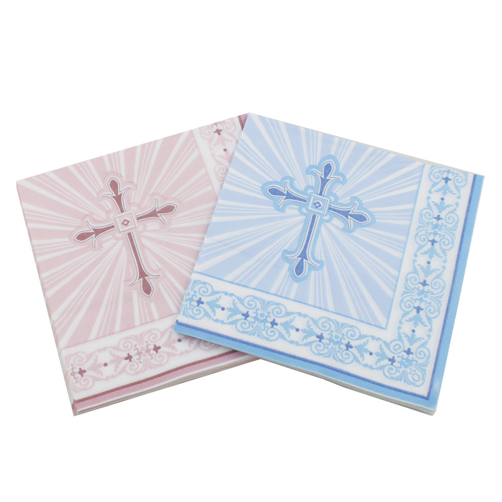 [Currently Available] Color Export Printed Napkin Jesus Cross Creative Tissue Kleenex RUQT-38
