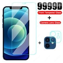 9999D Trempé Verre Pour iPhone 12 11 Pro XS Max X XR Protecteur Décran Pour iPhone 8 7 6 6S Plus SE 2020 Verre protecteur