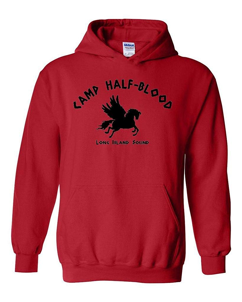 TSDFC Camp Half-Blood Cool Demigods Long Island Soundtrack Olympians Unisex Hoodie Sweatshirt XXX-Large Red image