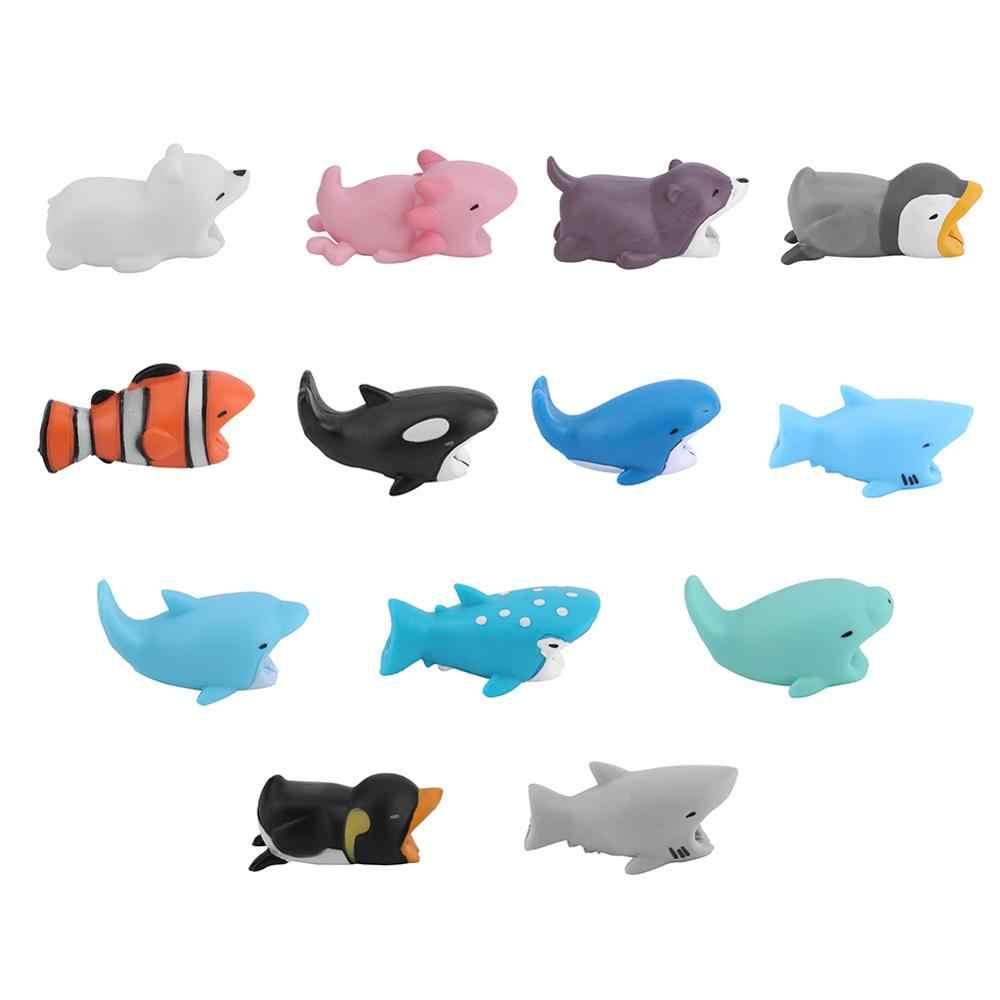 1Pc 귀여운 물린 만화 동물 케이블 보호자 코드 와이어 보호 미니 커버 충전 케이블 와인 더 고품질 수호자 새로운