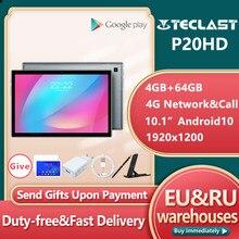 Teclast-Tableta P20HD con Android 10, 4G, LTE, 10,1 pulgadas, 4GB de RAM, 64GB de ROM, SC9863A, ocho núcleos, 1920x1200, GPS