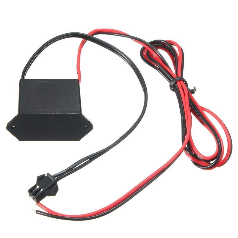 Неоновый мини-контроллер EL Wire 12 В постоянного тока для светодиодного провода длиной 1-10 м, адаптер питания, гибкий неоновый драйвер