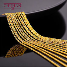 CHUHAN Jewelry 18k Gold Twisted chain AU750 Real Gold Hemp rope Necklace Fashion All-match models Fine Jewelry accessories