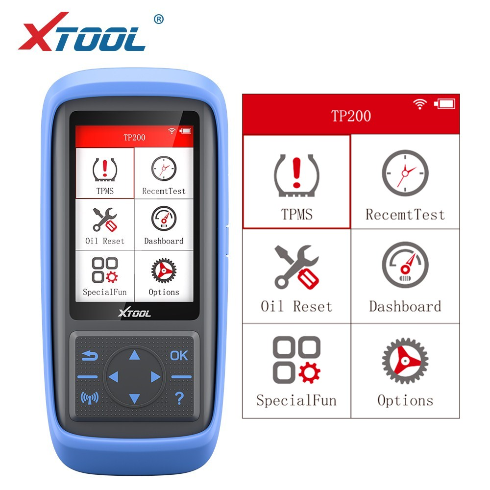 XTOOK TP200 Tire Pressure Monitoring System 0 4.5 Bar for 315MHZ/433MHZ Sensor Activation OBD2 Direct Tire Pressure Monitor