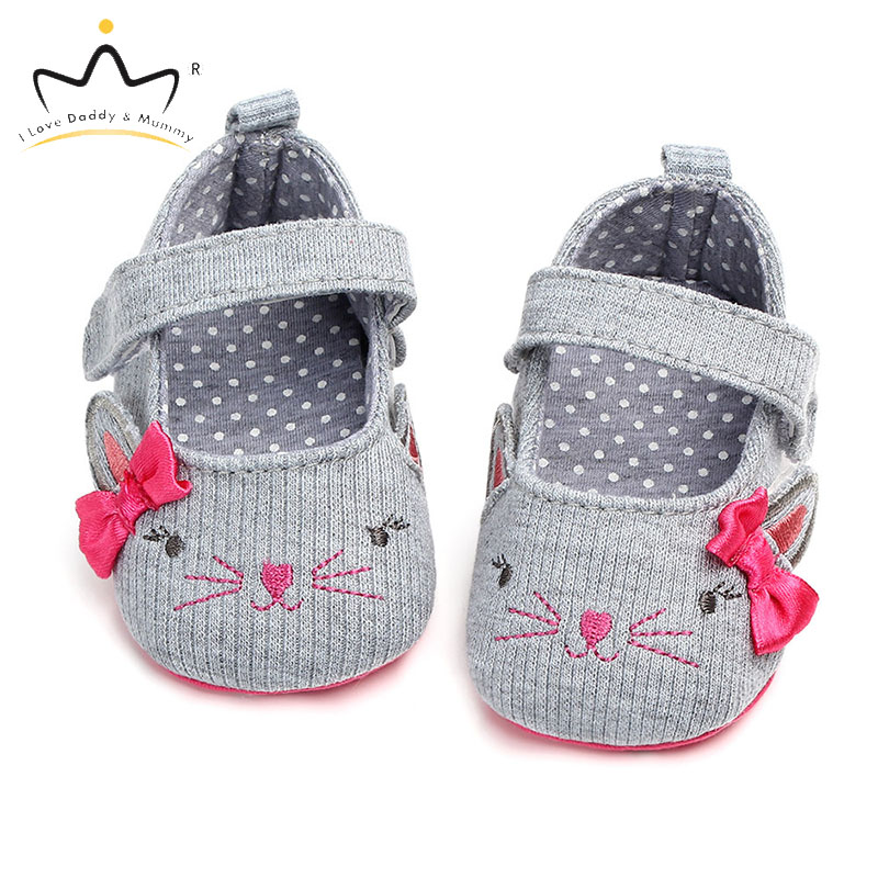 New Baby Girl Shoes Cute Animal Bows Newborn Toddler Shoes First Walkers Soft Cotton Flower Bowknot Princess Girls Shoes