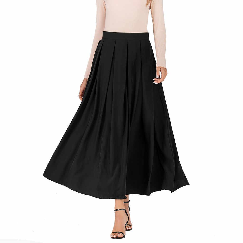 Outono E Inverno das mulheres Cor Sólida Moda Saia Cintura Alta Uma Linha Saia Europeus e Americanos Estilo faldas mujer moda a60