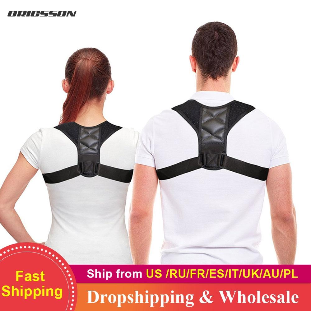HEYME Adjustable Back Posture Corrector Clavicle Spine Back Shoulder Lumbar Brace Support Belt Posture Correction A