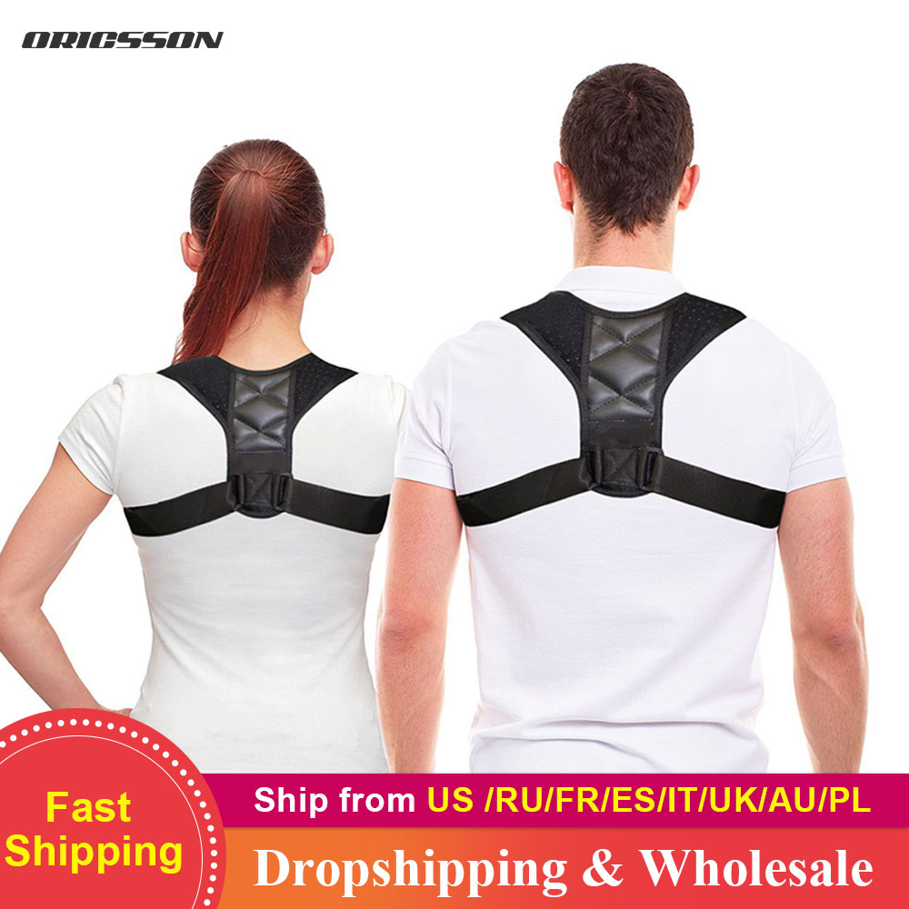 HEYME Adjustable Back Posture Corrector Clavicle Spine Back Shoulder Lumbar Brace Support Belt Posture Correction A