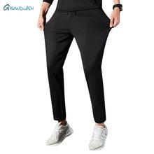 Grandwish masculino sweatpants verão respirável calças de cintura elástica casual homem streetwear solto japonês ice silk calças, za306