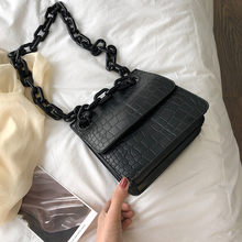 Women Shoulder bag Handbag Ladies Crocodile Skin Designer Korean Fashion Trend Stone Pattern Buckle Small Square Crossbody Bag(China)