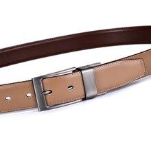 Reversible Buckle Genuine Leather Men's Belt