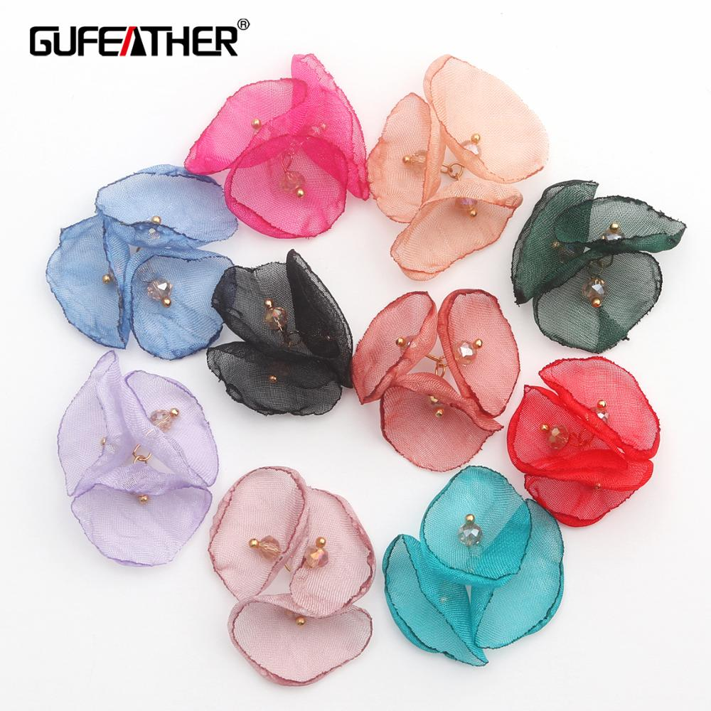 GUFEATHER F136,jewelry Making,jewelry Findings,hand Made,earrings Accessories,charms,flower Decoration,diy Earrings,10pcs/lot