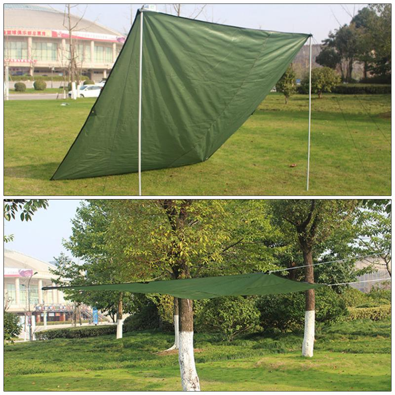 2020 Waterproof Camping Hiking Tent Tarp Awning Sun Shade Rain Shelter Outdoor Travel Beach Picnic Mat Mattress Accessories