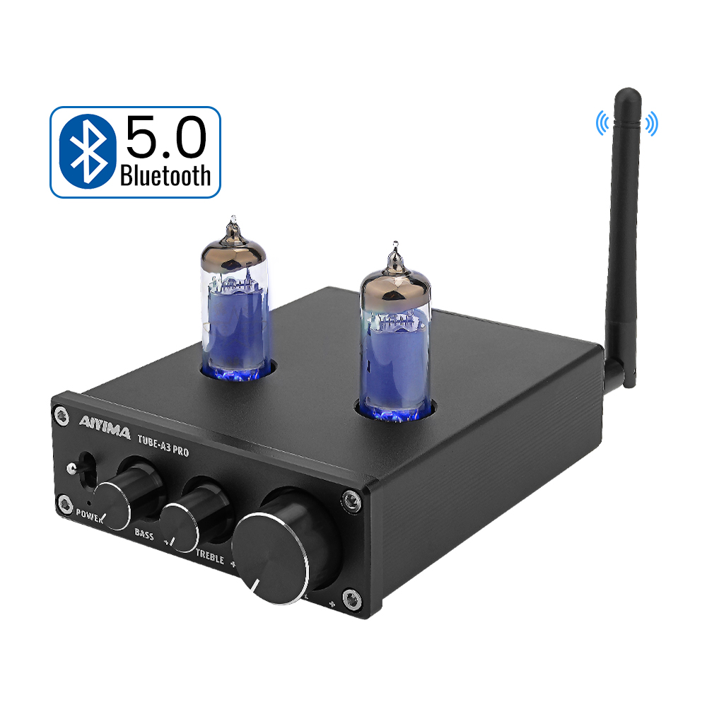 AIYIMA 6K4 Vacuum <font><b>Tube</b></font> Amplifier <font><b>Preamplifier</b></font> <font><b>Bluetooth</b></font> 5.0 Preamp AMP With Treble Bass Tone Adjustment For Home Sound Theater image