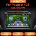 Автомагнитола для Peugeot 9,0, мультимедийный проигрыватель на Android 408, 4 Гб ОЗУ, 64 Гб ПЗУ, GPS, RDS, DSP, для Peugeot 308, 308SW, 2din, android, автомобильный проигрыват...