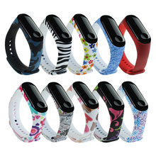 Pattern-Strap Watch Mi-Band Xiaomi Wristband-Accessories Painted Silicone for Removable