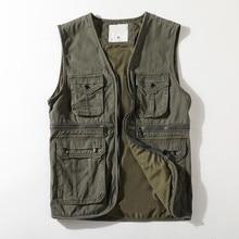 Sleeveless Jacket Clothing Outerwear Travel-Vest Reporter Cargo Multi-Pockets Photographer
