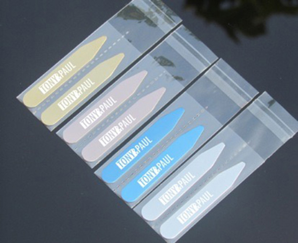 Personalized Stainless Steel Collar Bones Stiffeners Stays For Formal Shirts Custom Engraved Name Logo Collar Stays Lettering