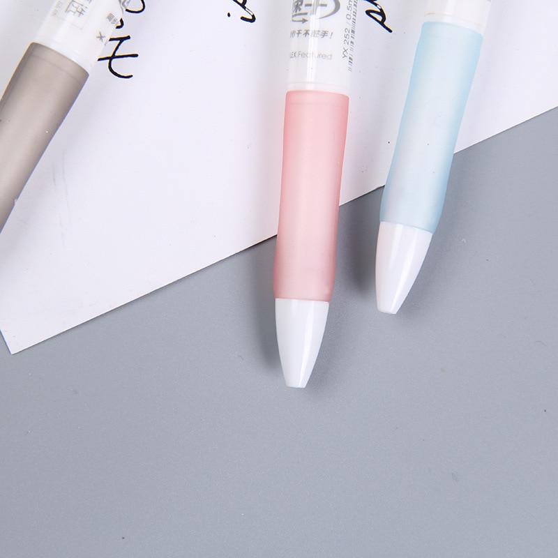 10pcs Press the gel pen 0 5mm black bullet head quick drying gel pen student test water based pen signature pen