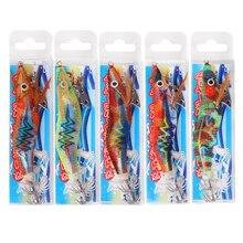 20Pcs Luminous Jigs Lure Fishing Shrimp Lure Bait Lead Sinker Squid Hook Jigs Octopus Cuttlefish Shrimp Baits Size 2.5#3#
