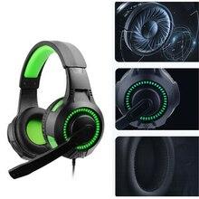 Gaming Headset 3.5mm Gaming Headphone Earphone Head