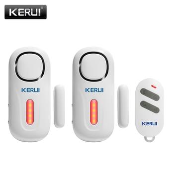цена на KERUI Home Security Wireless Door Window Entry Burglar Sensor Alarm PIR Door Sensor Alarm System Safety with Remote Control Kit