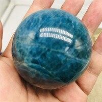 40 мм натуральный Синий Апатит камни Рок Кристалл кварц минеральная сфера шар мяч Рэйки, лечение чакры украшения дома ремесла