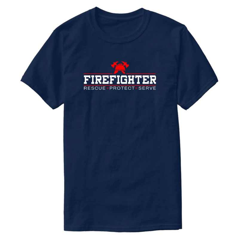 Printing Firefighter Fire Fire Truck Heroes Blaze Hot Gift T-Shirt Man 2020 Tshirt For Mens Female 100% Cotton Tee Top