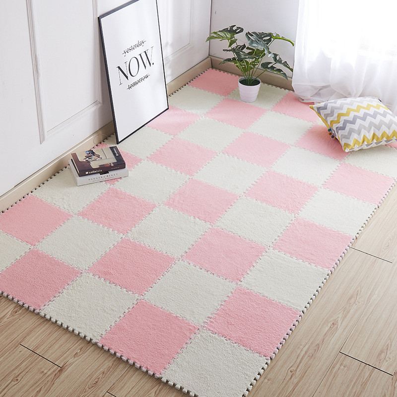 Mrosaa Top Sale 30*30cm Living Room Bedroom Children Kids Soft Carpet Magic Patchwork Jigsaw Splice Heads Climbing Baby Mat 1pcs