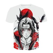 2021 verão naruto tema topos moda desenhos animados anime harajuku camiseta masculina crianças meninos meninas anime 3dt-shirts adolescentes roupas