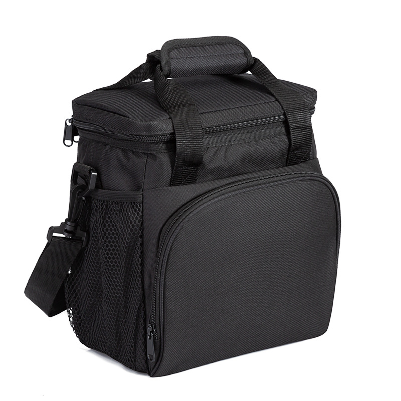 Heopono BPA Free Nice Quality Low MOQ Fashion Leakproof Fitness Polyester Thermal Insulated Handle School Lunch Box Bag