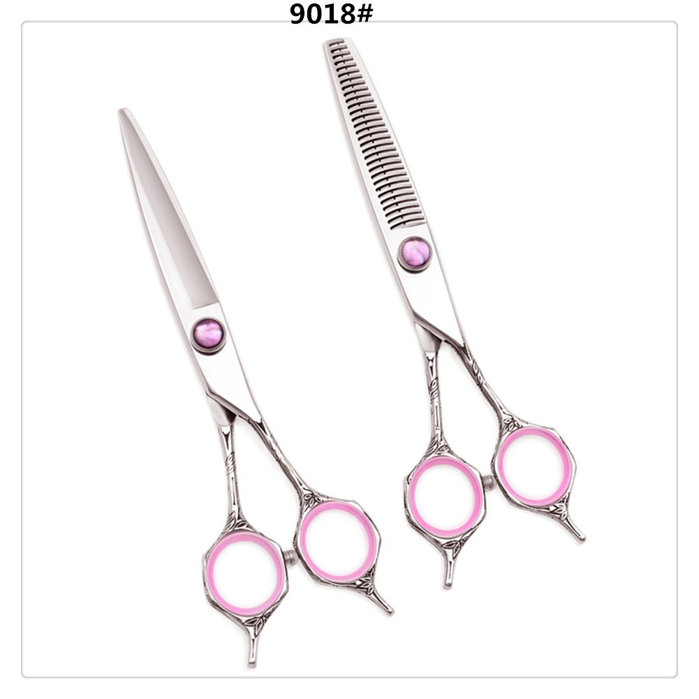 A9018 6'' AQIABI Professional Human Hair Scissors Hairdressing Cutting Shears Thinning Scissors Barbers Salon Hair Styling Tools