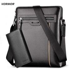Man Leather Bag VORMOR Brand Shoulder Crossbody Bags PU Leather Male iPad Business Messenger Bag Briefcase For Men