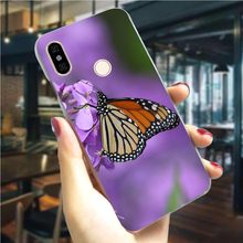 Violet butterfly Hard Cover for Xiaomi Mi 9T Fashion Phone Case for F1 A1 5X A2 6X 6 8 Lite 8se 9 2S 9T Pro CC9E A3 Back Skin(China)