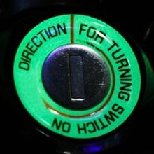 Мотоцикл светящийся ключ кольцо Отверстие наклейка светящийся флуоресцентный переключатель Крышка автомобильный мотоцикл круглая наклейка украшение света