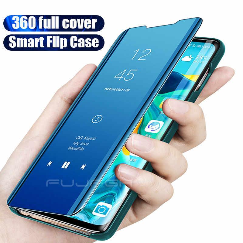Смарт mi rror флип чехол для телефона для Xiao mi Red mi Note 8 7 6 5 Pro K20 4X 6A 7A Прозрачный чехол для Xiaomi mi 9T SE 8 A2 Lite 5X 6X