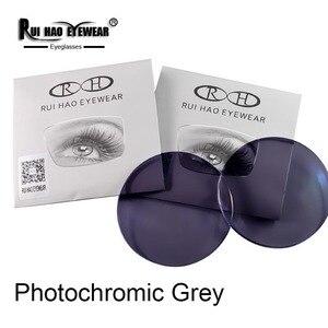 Image 5 - 1.56 1.61 1.67 Photochromic Lenses Grey Brown Sunglasses Lens Myopia Resin Lens Anti UV Discolor Indoor Transparent
