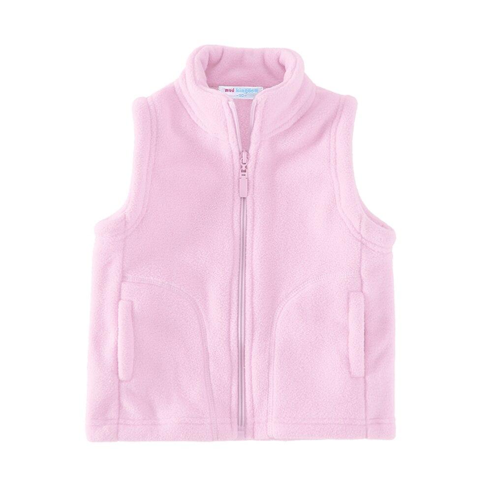 Mudkingdom Cute Boys Girls Fleece Vest Lightweight Full Zipper Kids Sleeveless Jacket 6