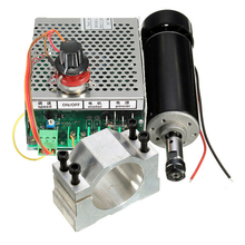 500W Air Cooled Spindle ER11 CNC Spindle Motor Kit + Adjustable Power Supply 52MM Clamps For Engraving Machine  Printer Part