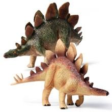 1 шт., яркий цвет, рисунок динозавра Стегозавра, Горячая тема, вечерние фигурки для мальчиков и девочек, праздничный, реалистичный подарок Юрского периода