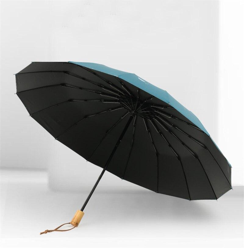 16 osso forte guarda chuva pêra flor queda feminino chuva engrenagem proteção parapluie guarda chuva parasol paraguas presente de natal - 4