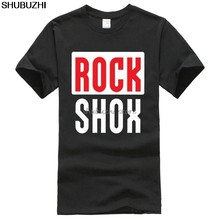 Rockshox Rock Shox Shock Suspension montaña Mtb Camiseta cuello redondo ropa sbz1111(China)
