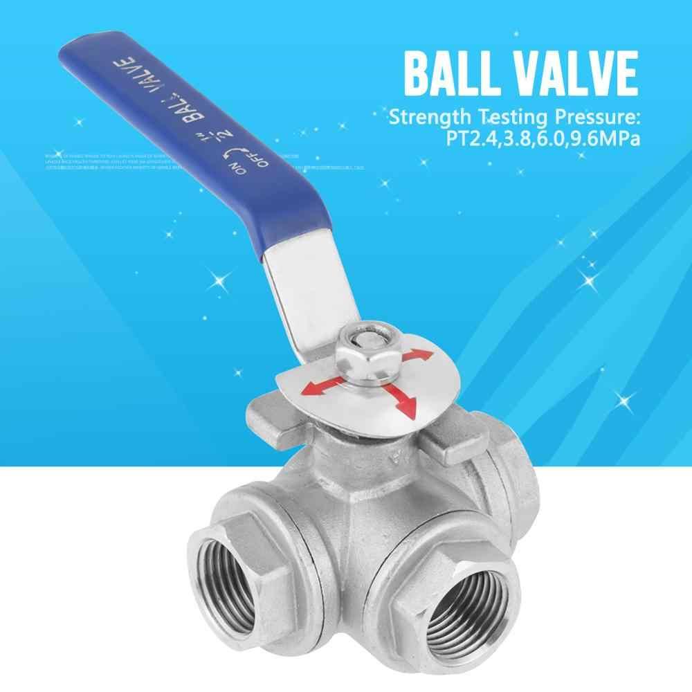 "1pcs 304 Stainless Steel Ball Valve 3//8/"" BSP Female Thread 3 Way T-type L-type"